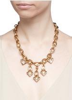 'Avron' crystal pavé cutout triangle charm necklace