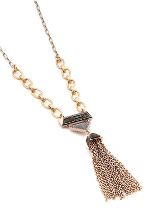 Lulu Frost - Chatelet' mix gemstone tassel necklace