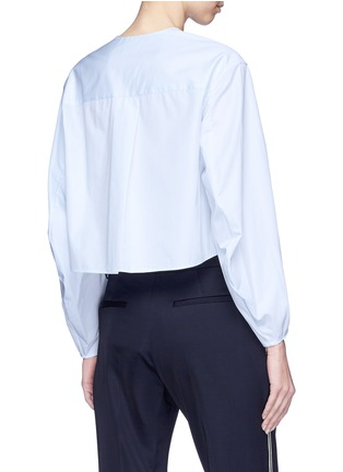 Back View - Click To Enlarge - Alexander White - 'Dorothy' cocoon sleeve shirt top