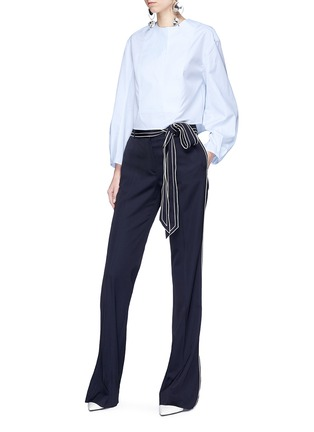 Figure View - Click To Enlarge - Alexander White - 'Dorothy' cocoon sleeve shirt top