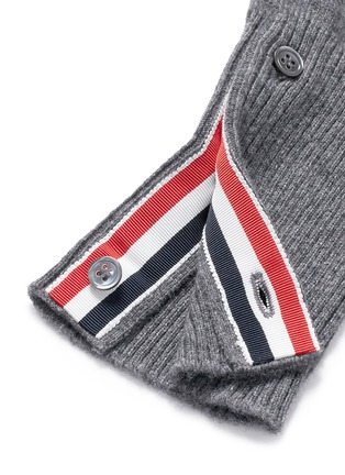 Thom Browne-Intarsia stripe cashmere cropped cardigan