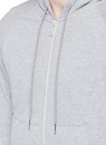 Stripe print cotton zip hoodie