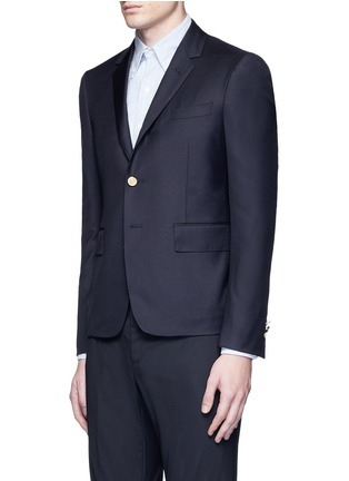 Front View - Click To Enlarge - Thom Browne - Anchor button wool blazer