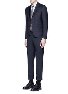 Thom Browne Anchor button wool blazer