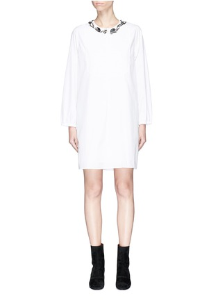 Main View - Click To Enlarge - 3.1 Phillip Lim - Ruched back poplin dress