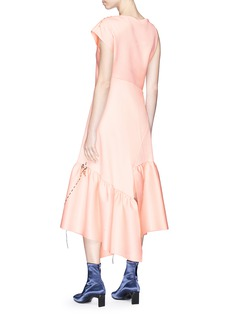3.1 Phillip Lim Petal charm asymmetric peplum dress