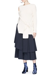 3.1 Phillip Lim Sash tie off-shoulder wool-yak sweater