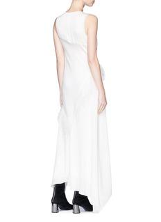 3.1 Phillip Lim Asymmetric feather trim stud silk crepe dress