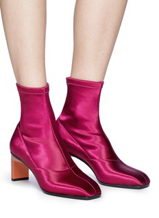 3.1 Phillip Lim 'Blade' geometric heel satin sock boots