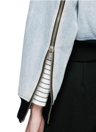 Detail View - Click To Enlarge - 3.1 Phillip Lim - Zip sleeve cropped denim bomber jacket
