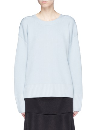 Main View - Click To Enlarge - 3.1 Phillip Lim - V-back silk-cotton sweater