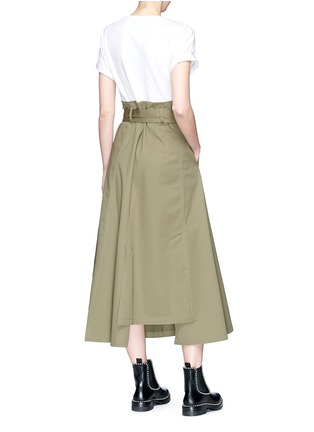 Figure View - Click To Enlarge - 3.1 Phillip Lim - T-shirt panel belted paperbag waist midi dress