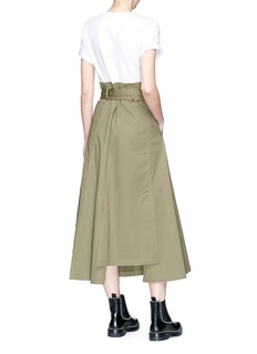 3.1 Phillip Lim T-shirt panel belted paperbag waist midi dress