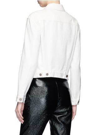 Back View - Click To Enlarge - 3.1 Phillip Lim - Asymmetric denim jacket