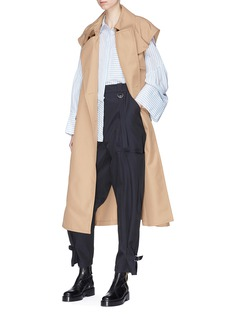 3.1 Phillip Lim Belted sleeveless twill trench coat