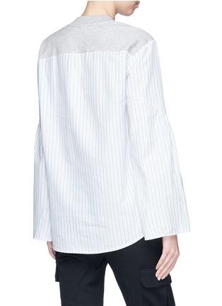 Back View - Click To Enlarge - 3.1 Phillip Lim - Stripe poplin back sweatshirt