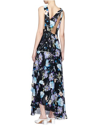 Back View - Click To Enlarge - 3.1 Phillip Lim - Floral print open back silk chiffon maxi dress