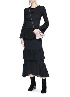 3.1 Phillip Lim Ruffle tier smocked cotton maxi dress