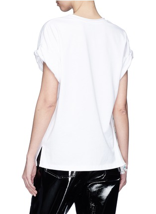 Back View - Click To Enlarge - 3.1 Phillip Lim - Floral print chiffon panel T-shirt