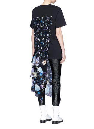 Back View - Click To Enlarge - 3.1 Phillip Lim - Floral print chiffon overlay T-shirt