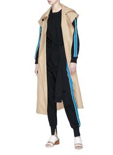 3.1 PHILLIP LIM 侧条纹系带纯棉上衣