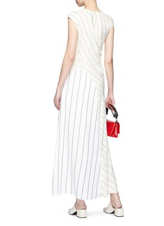3.1 Phillip Lim Twist stripe patchwork maxi dress