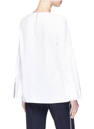 Back View - Click To Enlarge - 3.1 Phillip Lim - Wide sleeve tie poplin top
