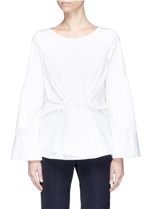 Main View - Click To Enlarge - 3.1 Phillip Lim - Wide sleeve tie poplin top