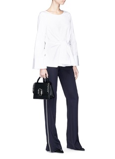 3.1 Phillip Lim Wide sleeve tie poplin top