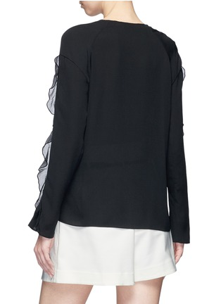 Back View - Click To Enlarge - 3.1 Phillip Lim - Crépon trim crepe blouse