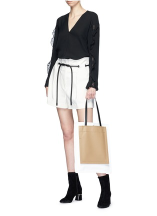Figure View - Click To Enlarge - 3.1 Phillip Lim - Crépon trim crepe blouse