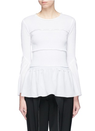 Main View - Click To Enlarge - 3.1 Phillip Lim - Smocked ruffle top