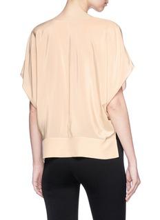 Ms MIN V-neck silk top