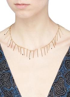 Isabel Marant 'Good Swung' resin bar fringe necklace