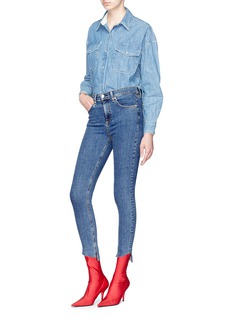 rag & bone/JEAN Staggered cuff cropped skinny jeans