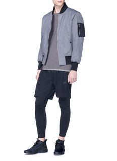 Nike 'Varsity' contrast sleeve pocket bomber jacket