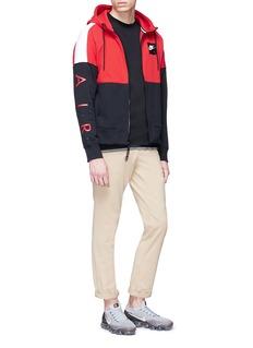 Nike 'Air' logo print colourblock zip hoodie