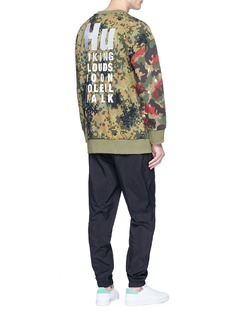 adidas By Pharrell Williams 'Hu Hiking' camouflage print sweatshirt