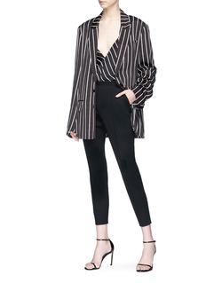 Haider Ackermann 'Classic' V-neck stripe blazer