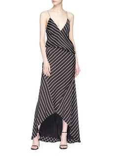 Haider Ackermann 'Biais' stripe handkerchief skirt