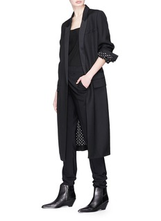 Haider Ackermann 'Classic' ruched back long wool blazer