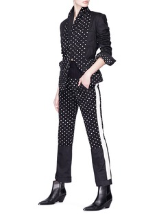 Haider Ackermann Polka dot print panel pants