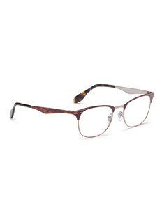 Ray-Ban 'Clubmaster' browline round optical glasses