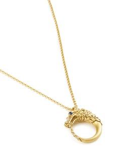 John Hardy Diamond sapphire 18k yellow gold naga pendant necklace