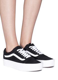 Vans 'Old Skool' leather trim suede flatform unisex sneakers