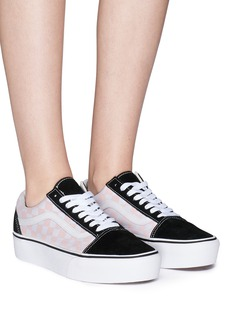 Vans 'Old Skool' checkerboard canvas flatform unisexsneakers