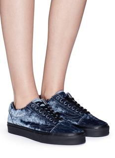 Vans 'Old Skool' velvet flatform unisex sneakers