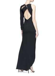 Maticevski 'Disclaimer' cutout shoulder asymmetric high-low dress