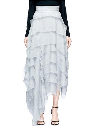 Maticevski 'Winning' asymmetric tiered ruffle mesh skirt ...