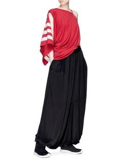 Y-3 3-Stripes asymmetric sleeveless top